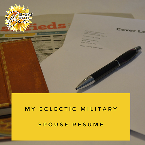 My Eclectic Military Spouse Resume